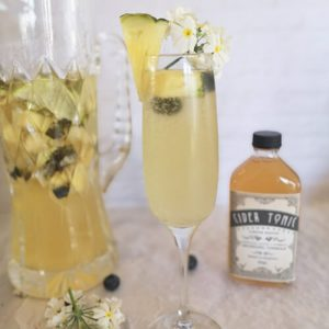 Prosecco punch with drinking vinegar shrub