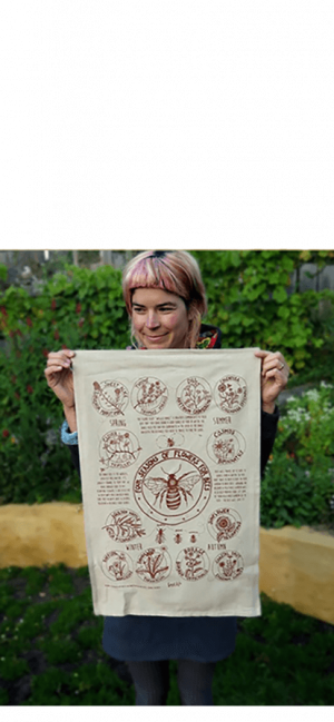 Goodlife-Permaculture-Teatowels-Flowers-Honey-Bee-Cider-Tonic